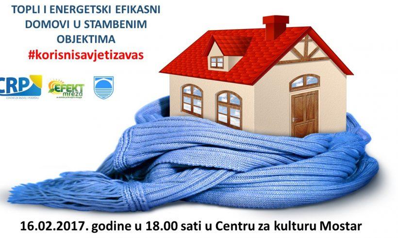 """NAJAVLJUJEMO TEMU """"Topli i energetski efikasni domovi u stambenim objektima"""""""