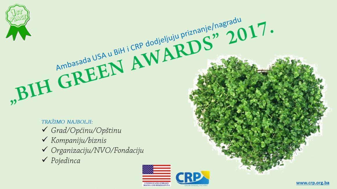 """Novi presjek rezultata glasanja u kampanji """"BIH GREEN AWARDS"""" 2017"""