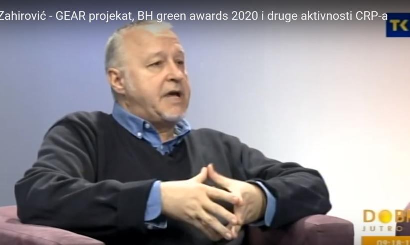 O projektu GEAR, BH Green awards 2020 i drugim aktivnostima CRP-a