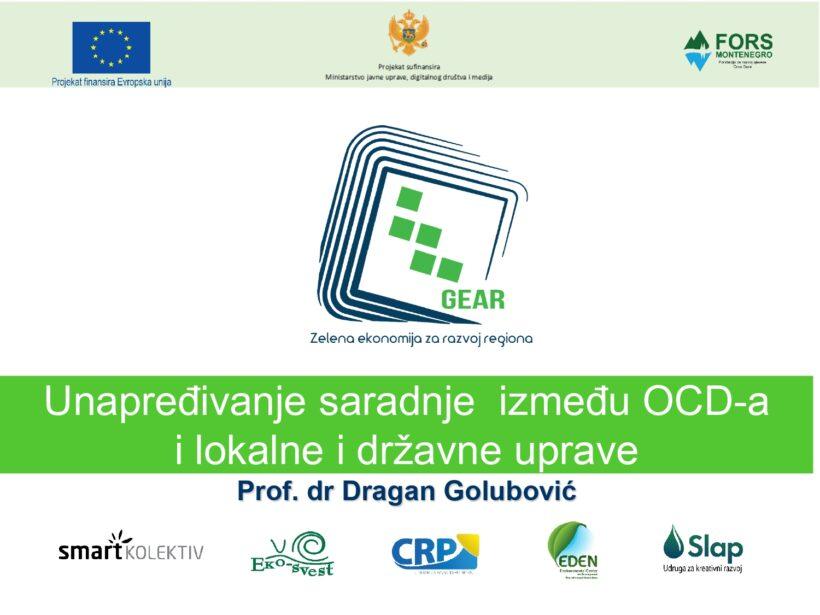 Unapređivanje saradnje između organizacija civilnog društva i lokalne i državne uprave